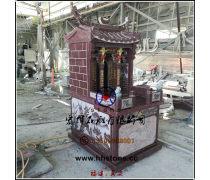 红色花岗石土地神庙(神龛)总高度2米