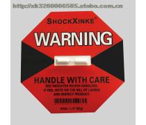 深圳防震标签SHOCKXINKE 深圳防震撞显示标签精密设备运输佳伴
