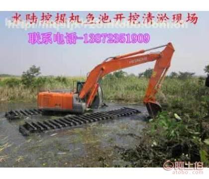 石家庄廊坊水上挖掘机租赁水上两用挖掘机出租