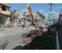 德宏州芒市步行街拆除工程案例