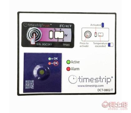 冷链冷藏运输超温变色温度标签timestrip2-8度低温监测标贴