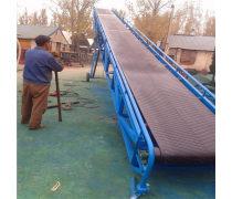袋装大米装车皮带输送机  u型槽电动升降输送机Lj6