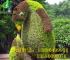 可爱的企鹅造型 企鹅立体雕塑 仿真绿雕动物造型