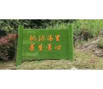 公园仿真绿雕造型推荐 仿真草做的信息牌子很漂亮