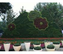 广场摆放的欢庆国庆放绿雕定制  雅安绿雕厂