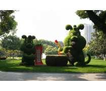 仿真绿雕十二生肖造型全套价格 成都绿雕批发厂