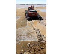 广东佛山淤泥清淤施工水陆挖掘机出租高质量服务