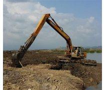湿地烂泥清淤机械水上挖掘机出租东莞樟木头常平附近