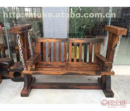 珠海老船木秋千椅价格 老船木家具生产