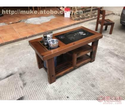 珠海老船木茶桌多少�X 老船木家具定制�r格
