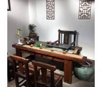 珠海老船木中式茶桌|老船木家具生产|老船木桌椅