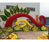 3D绿雕 花木造型 节日绢花布置 绢花造型设计施工