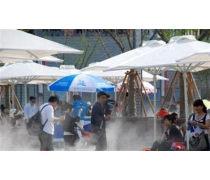 浙江商业街水雾降温