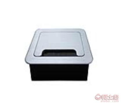 多媒体插座线盒 毛刷铝线盒 86孔双翻齿轮线盒 加逢办公家具配件