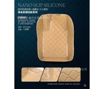 大瀚联合汽车脚垫卷材DH-014X大小菱皮革carmatmaterialsTPR+6.0XPE+毛刺/PE