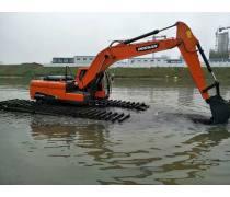 广东水上清於挖机租赁