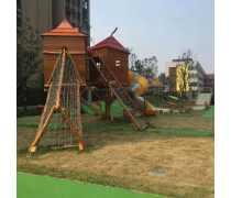 重庆儿童定制大型室外组合玩具滑梯攀爬绳网