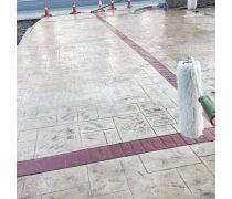 仿石压模地坪彩色混凝土