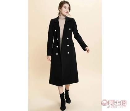四五线城市卖服装到那里拿货哥洛菲新款双面尼羊绒大衣