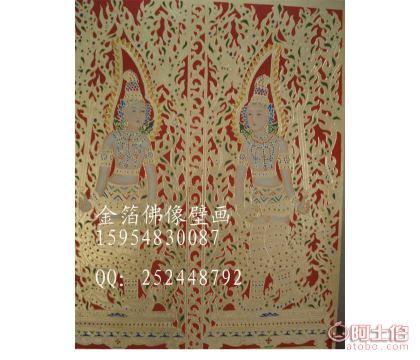 佛道壁画寺庙背景墙壁画道教文化壁画